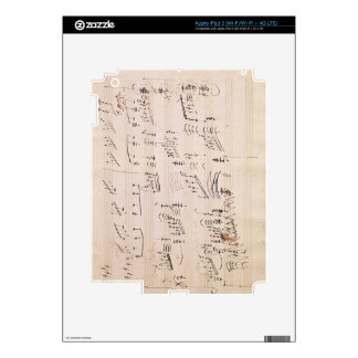 Score sheet of 'Moonlight Sonata' iPad 3 Skin