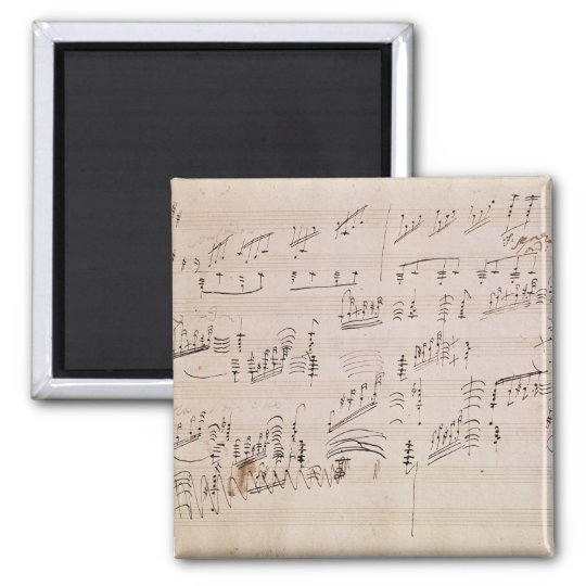 Score sheet of 'Moonlight Sonata' Magnet
