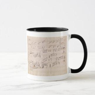 Score sheet of 'Moonlight Sonata' Mug