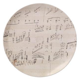 Score sheet of 'Moonlight Sonata' Party Plate