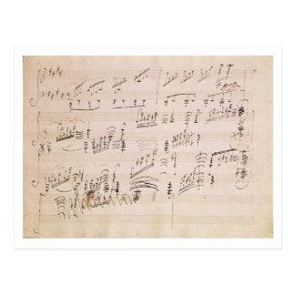 Score sheet of 'Moonlight Sonata' Post Card