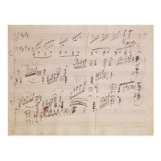 Score sheet of 'Moonlight Sonata' Postcard