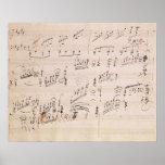 Score sheet of 'Moonlight Sonata' Poster
