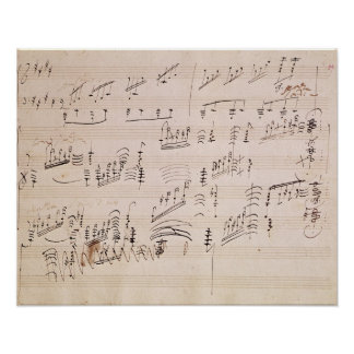 Score sheet of 'Moonlight Sonata' Posters