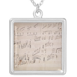 Score sheet of 'Moonlight Sonata' Silver Plated Necklace