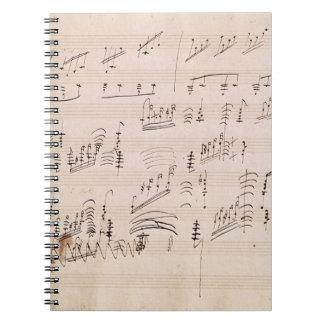 Score sheet of 'Moonlight Sonata' Spiral Notebook