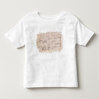 Score sheet of 'Moonlight Sonata' Toddler T-shirt