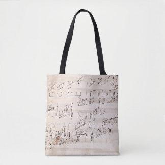 Score sheet of 'Moonlight Sonata' Tote Bag