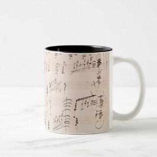 Score sheet of 'Moonlight Sonata' Two-Tone Coffee Mug