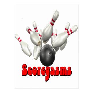 Scoregasms Bowling Postcard