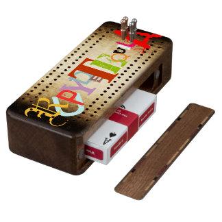 Scorekeeping Wood Walnut Cribbage Board