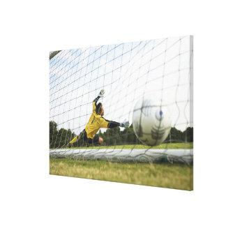 Scoring a goal canvas print