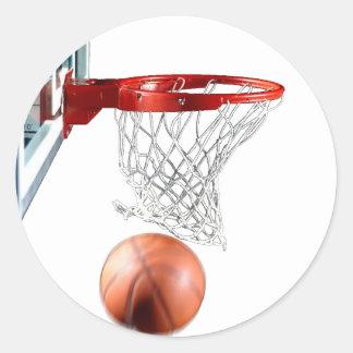 Scoring Machine Basketball Classic Round Sticker