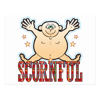 Scornful Fat Man Postcard