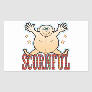 Scornful Fat Man Rectangular Sticker