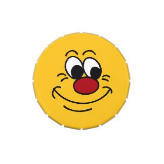 Scornful Smiley Face Grumpey Jelly Belly Tin