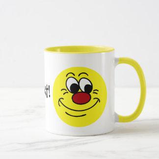 Scornful Smiley Face Grumpey Mug