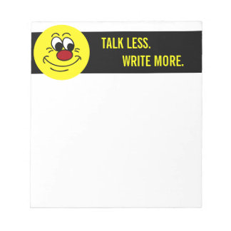 Scornful Smiley Face Grumpey Notepad