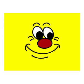 Scornful Smiley Face Grumpey Postcard