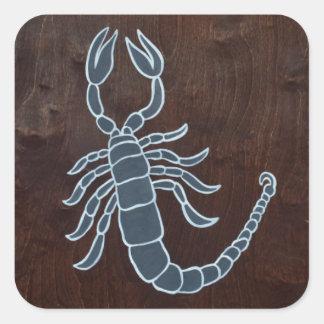 Scorpio 2008 square sticker