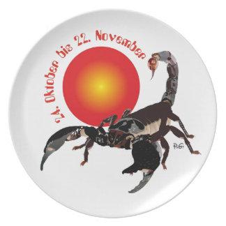 Scorpio 24 October to 22 November/plate Dinner Plate