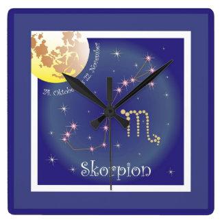 Scorpio 24 October until 22 November clock