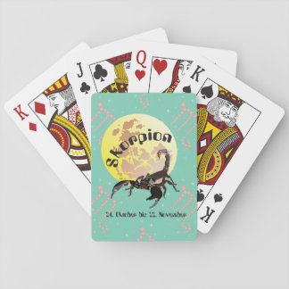 Scorpio 24 October until 22 November pack of cards Playing Cards