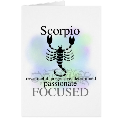 Scorpio About You Card