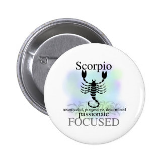 Scorpio About You Pinback Button