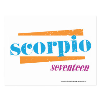 Scorpio Aqua Postcard