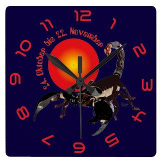 Scorpio - asterisk clock