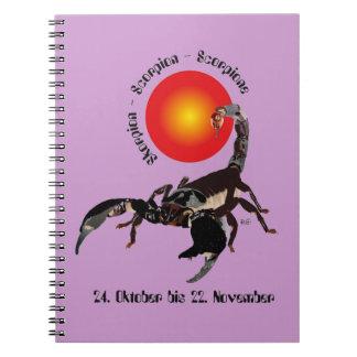Scorpio - asterisk note booklet spiral note books