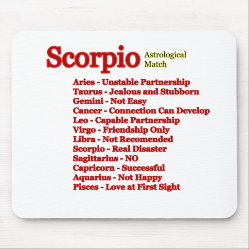 Scorpio Astrological Match The MUSEUM Zazzle Gifts Mouse Pad