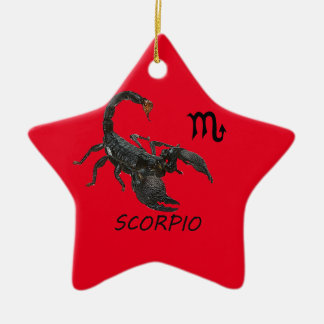 Scorpio astrology ceramic ornament