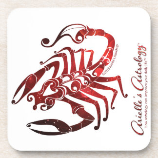 Scorpio Astrology Cork Coasters