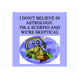 SCORPIO astrology joke Postcard