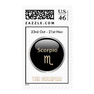 Scorpio astrology star sign postage stamp