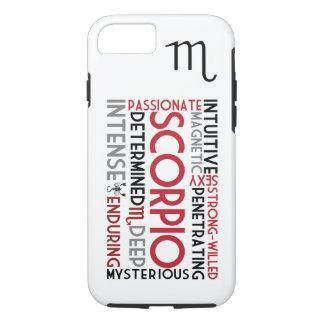 Scorpio Astrology Word Collage iPhone 7 case