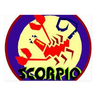 Scorpio Badge Postcard