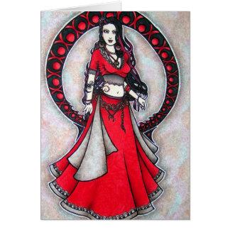 Scorpio Belly Dancer Gothic Moon Card