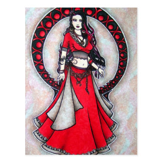 Scorpio Belly Dancer Gothic Moon Postcard