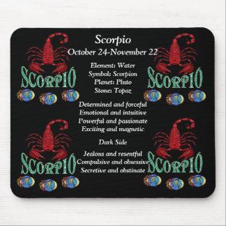 Scorpio Birth Sign Zodiac Mouse Pad