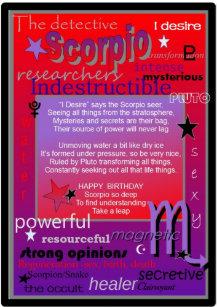Scorpio Birthday Cards | Zazzle