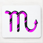 Scorpio Black and Pink with Symbol Mouse Pad