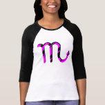 Scorpio Black and Pink with Symbol T Shirt