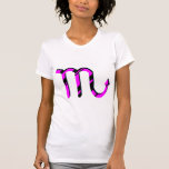 Scorpio Black and Pink with Symbol Tshirt