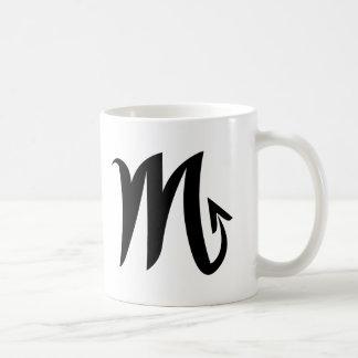 Scorpio black white mug