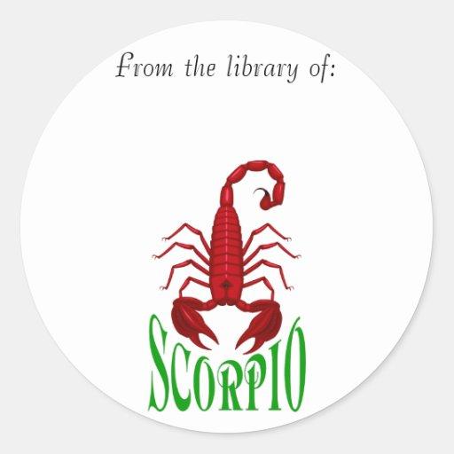 Scorpio Bookplate Sticker