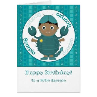Scorpio Boy - Happy Birthday Card