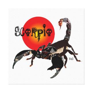 Scorpio canvas gallery wrap canvas